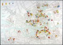 1979-337 Plattegrond van Rotterdam met aanduiding van de straatvernieuwingsprojecten. Linksboven: inzetkaart ...