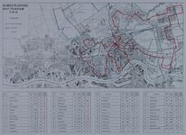 1979-349 Kaart van Rotterdam ten noorden van de Nieuwe Maas met de fasering van de aanleg van een kabeltelevisienet