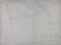 1979-702 Kadastrale kaart van Rotterdam, sectie A, eerste blad. Het afgebeelde gebied wordt begrensd door de Schiedamse ...