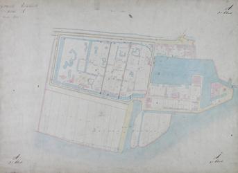 1979-703 Kadastrale kaart van het Nieuwe Werk. Het afgebeelde gebied wordt begrensd door de Schiedamsche Dijk ...
