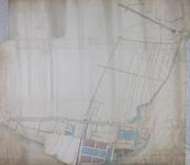 1979-704 Kaart van Cool en het Nieuwe Werk met een plan voor de aanleg van een spoorlijn van het Slagveld naar de ...