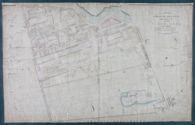 1979-705 Kadastrale kaart van Rotterdam, sectie A, eerste blad. Het afgebeelde gebied wordt begrensd door de Schiedamse ...