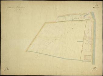 1979-706 Kadastrale kaart van Rotterdam, sectie B, eerste blad. Het afgebeelde gebied wordt begrensd door de Schie, de ...