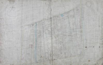 1979-711 Kadastrale kaart van Rotterdam, sectie B, genaamd West-Blommersdijk. Het afgebeelde lanengebied wordt begrensd ...