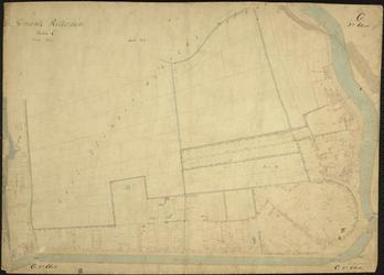1979-713 Kadastrale kaart van Rotterdam, sectie C, tweede blad. Het afgebeelde gebied omvat een deel van de ...