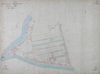 1979-715 Kadastrale kaart van Rotterdam, sectie D, tweede blad. Het afgebeelde gebied omvat het deel van Rubroek tussen ...