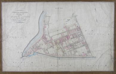 1979-717 Kadastrale kaart van Rotterdam, sectie D, tweede blad. Het afgebeelde gebied omvat het deel van Rubroek tussen ...