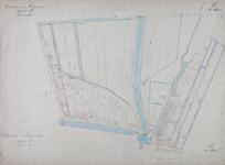 1979-718 Kadastrale kaart van Rotterdam, sectie E, eerste blad. Het afgebeelde gebied wordt begrensd door de Goudsche ...