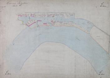 1979-719 Kadastrale kaart van Rotterdam, sectie E, tweede blad. Het afgebeelde gebied wordt begrensd door de ...