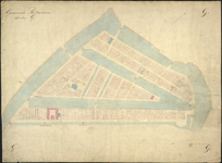 1979-722 Kadastrale kaart van Rotterdam, sectie G. Het afgebeelde gebied wordt begrensd door de driehoek: Leuvehaven, ...