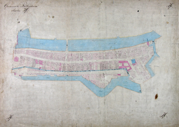 1979-723 Kadastrale kaart van Rotterdam, sectie H. Het afgebeelde gebied wordt begrensd door de Leuvehaven en de ...