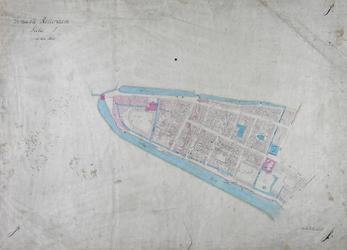1979-724 Kadastrale kaart van Rotterdam, sectie J. Het afgebeelde gebied wordt begrensd door de Stadsvest [Coolsingel] ...