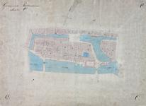 1979-729 Kadastrale kaart van Rotterdam, sectie O. Het afgebeelde gebied wordt begrensd door de Hoogstraat, Hoofdsteeg ...
