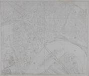 1980-11 Kaart van de binnenstad van Rotterdam met een overzicht van van de bladen (1t/m 20) van de grootschalige kaart, ...