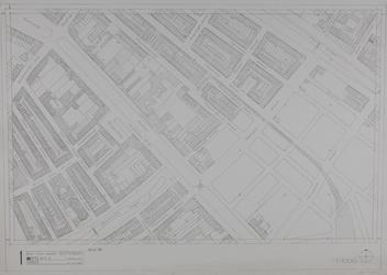 1980-12 Kaart van de binnenstad van Rotterdam, bestaande uit 20 bladen. Blad 1 Schiekade en omgeving