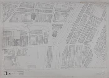 1980-14 Kaart van de binnenstad van Rotterdam, bestaande uit 20 bladen. Blad 3 Goudse Rijweg en omgeving