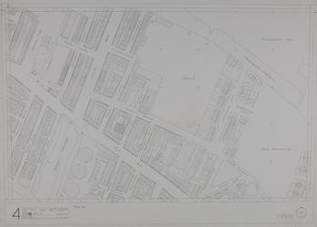 1980-15 Kaart van de binnenstad van Rotterdam, bestaande uit 20 bladen. Blad 4 de Oudedijk en het ijsclubterrein