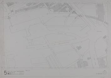 1980-16 Kaart van de binnenstad van Rotterdam, bestaande uit 20 bladen. Blad 5 het Hofplein en omgeving