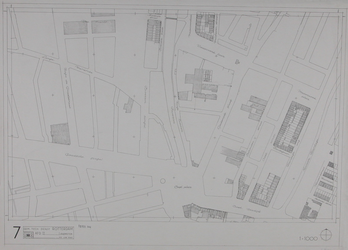 1980-18 Kaart van de binnenstad van Rotterdam, bestaande uit 20 bladen. Blad 7 het Oostplein en omgeving