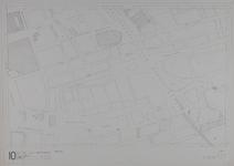1980-21 Kaart van de binnenstad van Rotterdam, bestaande uit 20 bladen. Blad 10 de Hoogstraat en omgeving