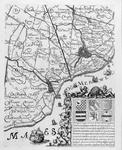 1980-2202 Kaart van een deel van het Hoogheemraadschap van Delfland (ten zuiden van Overschie)