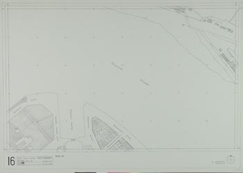 1980-27 Kaart van de binnenstad van Rotterdam, bestaande uit 20 bladen. Blad 16 de Nassaukade en de Nijverheidstraat