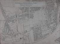 1980-347 Kaart van Rotterdam-West met daarop aangetekend de hoefslagpalen op de Havenstraat, Westzeedijk en ...