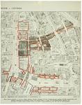 1980-353 Plattegrond van de binnenstad van Rotterdam met daarop aangegeven een plan uit 1913 tot verbetering van de ...