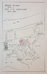 1980-360-1 Plattegrond van de omgeving van de Schotse Kerk en het Luthersch Weeshuis. Het afgebeelde gebied wordt ...