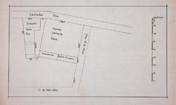 1980-360-2 Plattegrond van de Schotse Kerk en het Lutherse Weeshuis aan de Schotsche Dijk [Vasteland]