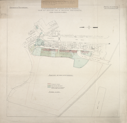 1980-381 Plattegrond van Oud-Delfshaven met een overzicht van door de Maatschappij voor Volkswoningen te koop gevraagde ...
