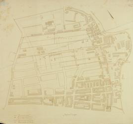 1980-384 Plattegrond van het Oude Noorden tussen Rotte en Blommersdijksche Weg (Bergweg) met aanduiding van de ...
