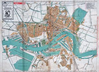 1981-1234 Plattegrond van Rotterdam. Het afgebeelde stadsgebied wordt begrensd door de Waalhaven, Bospolder, ...