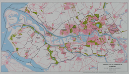 1981-242 Overzichtskaart van de gemeenten in het Rijnmondgebied
