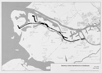 1981-243 Kaart met daarop aangegeven de situering van zinkers onder het Hartelkanaal en de Dintelhaven