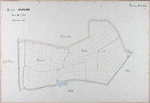 1981-2918 Kadastrale kaart van Charlois, sectie A, 2e blad. Het afgebeelde gebied (delen van de polders Plompert en ...