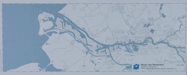 1981-415 Kaart van het havengebied van Rotterdam tot aan de Noordzee