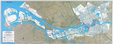 1982-1498 Kaart van Rotterdam met daarop aangegeven de kwaliteitstoestand van de wegen