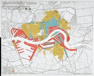 1982-1826 Kaart van Rotterdam met verdeling in bouwzones
