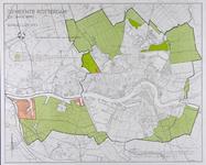1982-1827 Kaart van Rotterdam en omgeving met aanduiding van bebouwde en landelijke gebieden bij Hoogvliet, ...