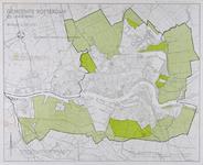 1982-1828 Kaart van Rotterdam en omgeving met aanduiding van landelijke gebieden bij Hoogvliet, IJsselmonde, Kralingen ...