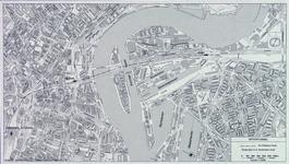1982-3277 Plattegrond van het ontwerptracé van de Willemsspoortunnel en omgeving