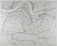1982-875 Kaart van Rotterdam-Zuid en een deel van het eiland IJsselmonde met daarop ingetekend een overzicht van de ...