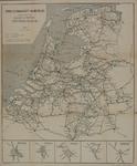 1982-882 Spoor- en Tramwegkaart van Nederland. Bijlaarten van Amsterdam, Rotterdam, Den Haag, Utrecht en Amersfoort