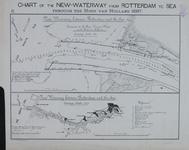 1982-955 Kaart van de monding van de Nieuwe Waterweg en kaart van de waterweg van Rotterdam naar zee