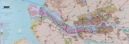 1982-958 Kaart van Rotterdam en omgeving met de route van de RET Europoortrit 1971