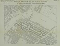 1982-976 Plattegrond van een deel van Oud-Crooswijk met een plan tot bebouwing van de Rubroekstraat en Frederikstraat ...
