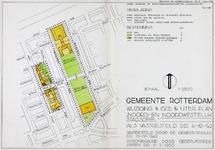 1982-989 Plattegrond van een uitbreidingsplan in Blijdorp tussen de Nobelstraat en de Noorderhavenkade