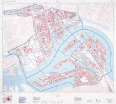 1983-3077 Plattegrond van de wijk A en K. A: Stadsdriehoek, Cool, CS-kwartier, Nieuwe Werk en Dijkzigt; K: ...