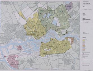 1983-4678 Kaart van Rotterdam en omgeving met aanduiding van rioleringsdistricten en verzorgingsgebieden